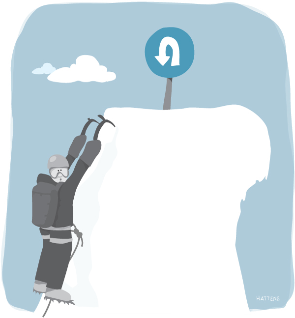 Mountaineering cartoon